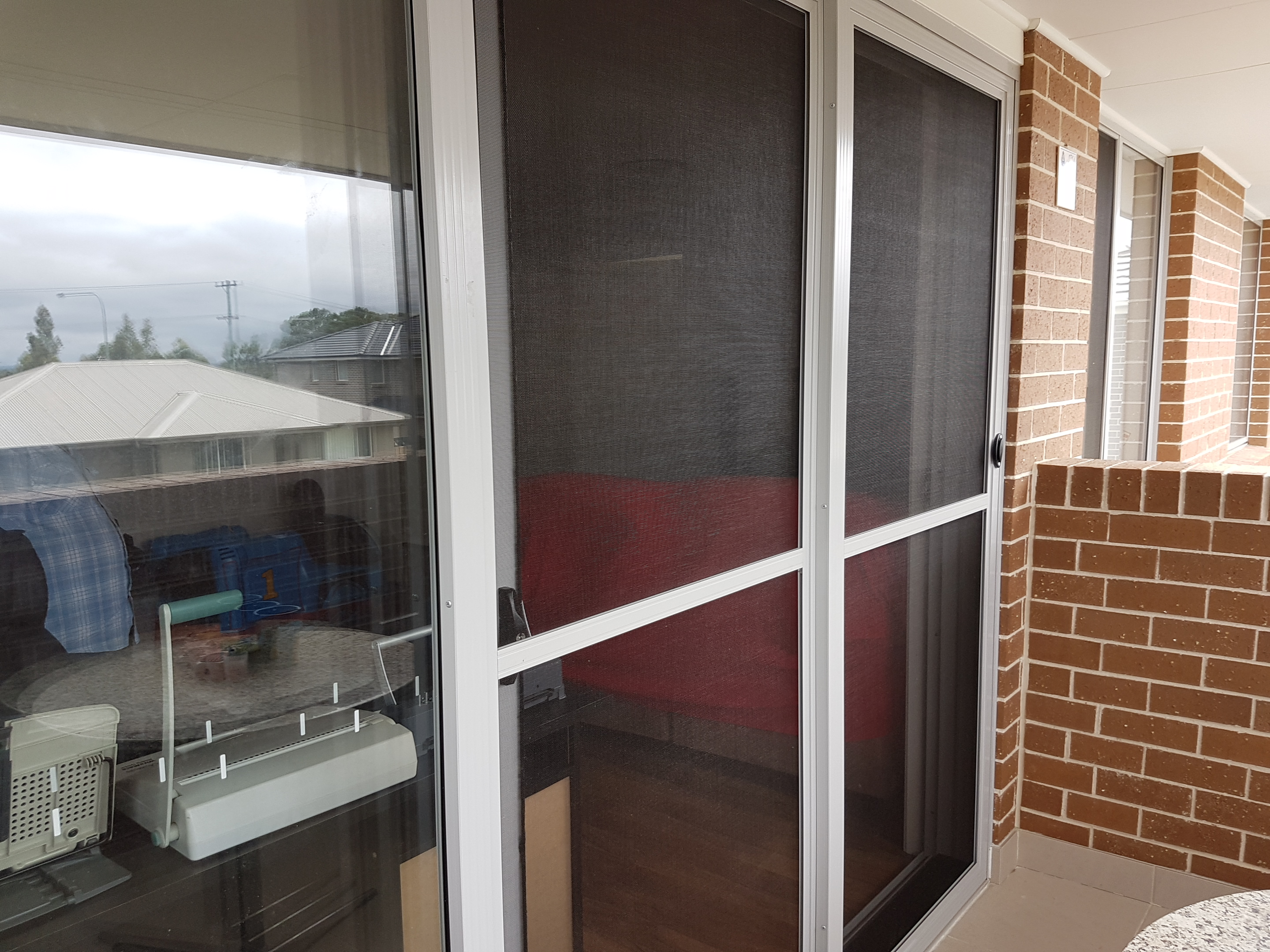 Stacker doors flyscreens french door insect screen for Flyscreens for french doors